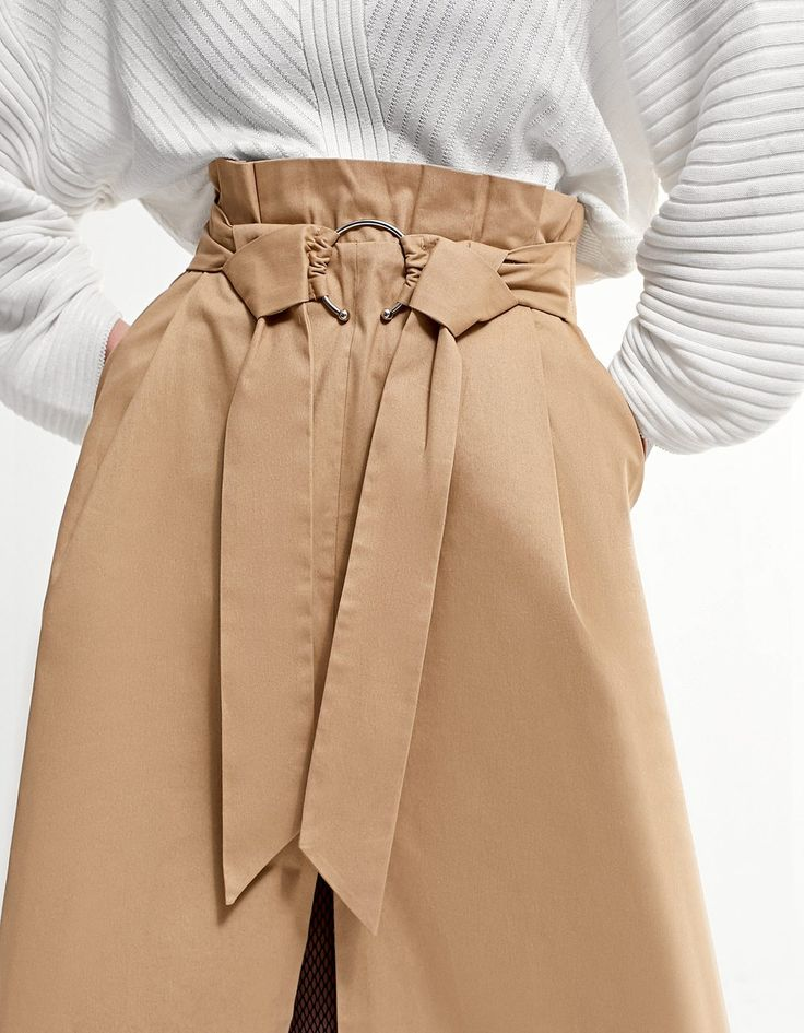 At Stradivarius you'll find 1 Paperbag midi skirt for just 8995 Hungary . Visit now to discover this and more Skirts.