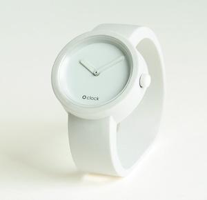 O'Clock watch. White. - heart