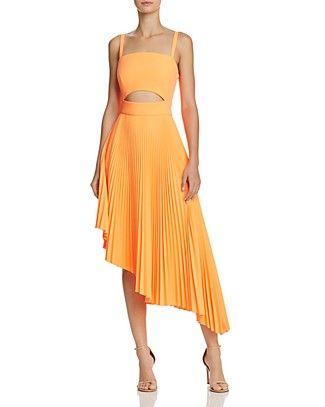 b2c3b08a MILLY Pleated Eliza Cutout Dress | Bloomingdale's | My runway in ...