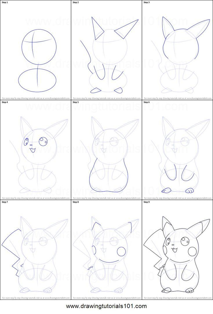 How To Draw Pikachu Pokemon Pikachu Draw In 2020 Pikachu Drawing Easy Pokemon Drawings Drawing Sheet
