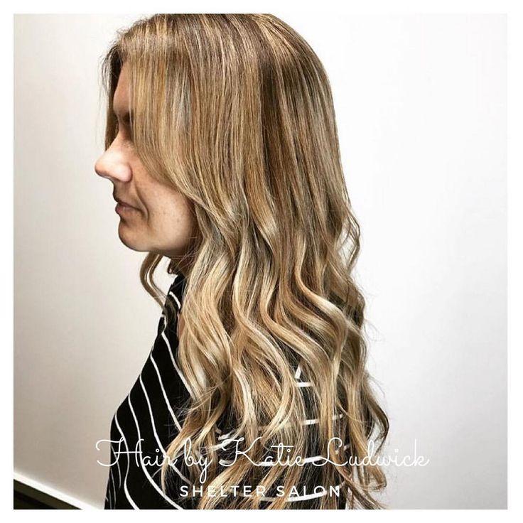 Hair by Katie Ludwick | balayaged golden blonde | Kevin.Murphy color | Shelter Salon | Wichita, KS