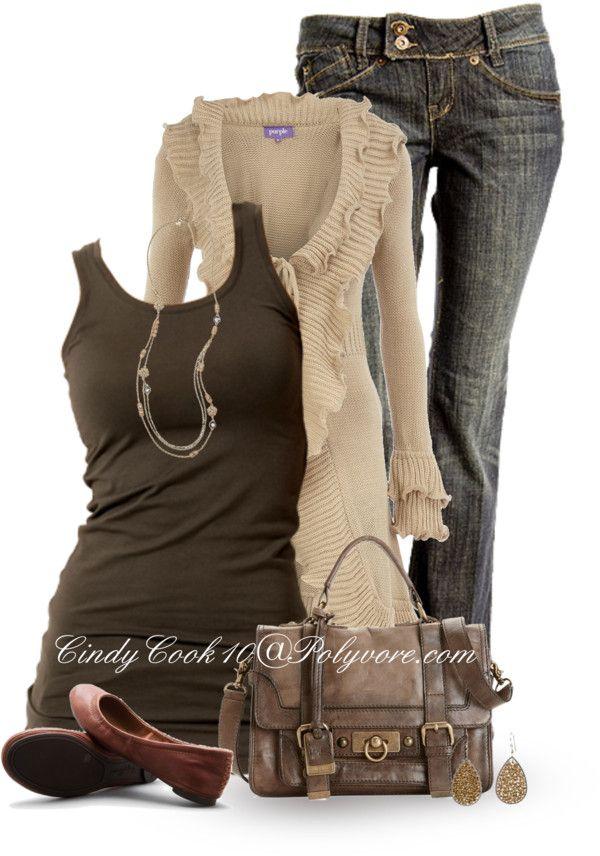 VILA long length tank top $20-7trends.de    Dorothy Perkins ruffle trim cardigan dorothyperkins.com    Super skinny jeans $