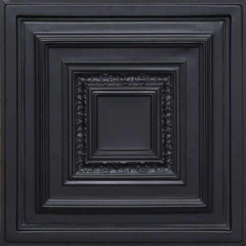 "Antyx Black (24x24"" Pvc) Ceiling Tile by Antique Ceilings. $6.65. High quality PVC matterial. Easy to cut. Universal Installation - Drop in Grid system, Glue-on, Nail-on. Tin like look from a modern material. Can be painted with most any water or latex based paints. PVC ceiling tiles come in 24""x24"" size. Feather-light, easy to install, easy to clean, stain resistant, water resistant, dust free, and easy to cut. They can be cut with any house hold scissors. Can be installed i..."