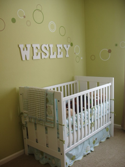 Polka dot baby room