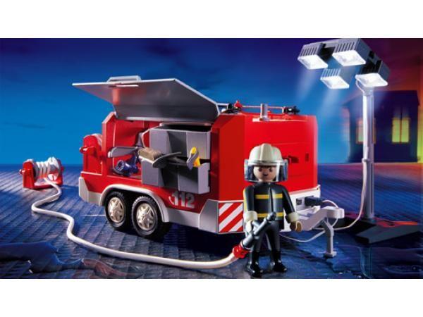 Playmobil 3178 pompier lectrog ne remorque joa - Playmobil de pompier ...