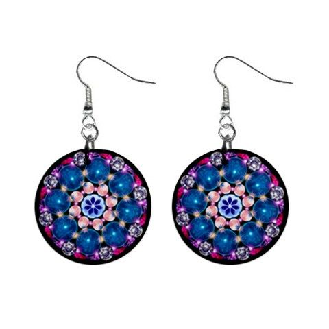 Earrings mandala Crystal Earth - also for sale on www.etsy.com/shop/droomcreaties