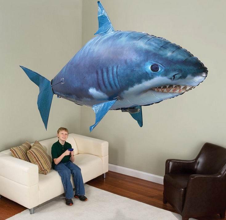 Flying Remote Control Inflatable Fish Shark Blimp Balloon – Sharvitz-Shop