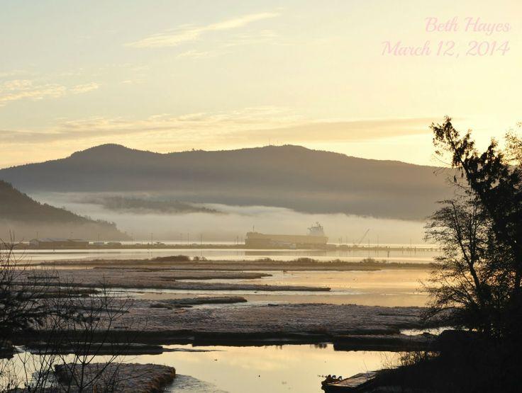 Cowichan Bay sunrise, March 12, 2014