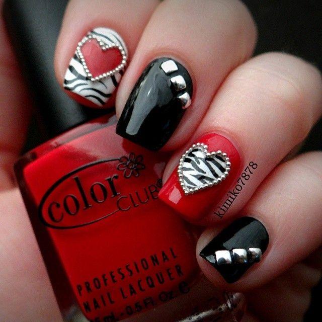 valentine by kimiko7878 #nail #nails #nailart | See more nail designs at http://www.nailsss.com/acrylic-nails-ideas/2/