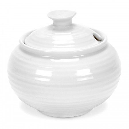 Sophie Conran White Covered Sugar Bowl is the perfect accompaniment to your teapot and cream jug. 0.31L (11floz) Product Code: CPW76829.  Call 905·885·9250.