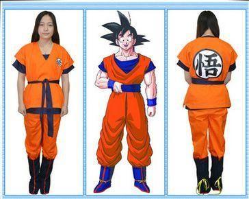 Dragon Ball Z GoKu Cosplay Costume Halloween cosplay costume 2*coat + 1*pant+1*shoe cover+1*belt + 1*Wig 041110
