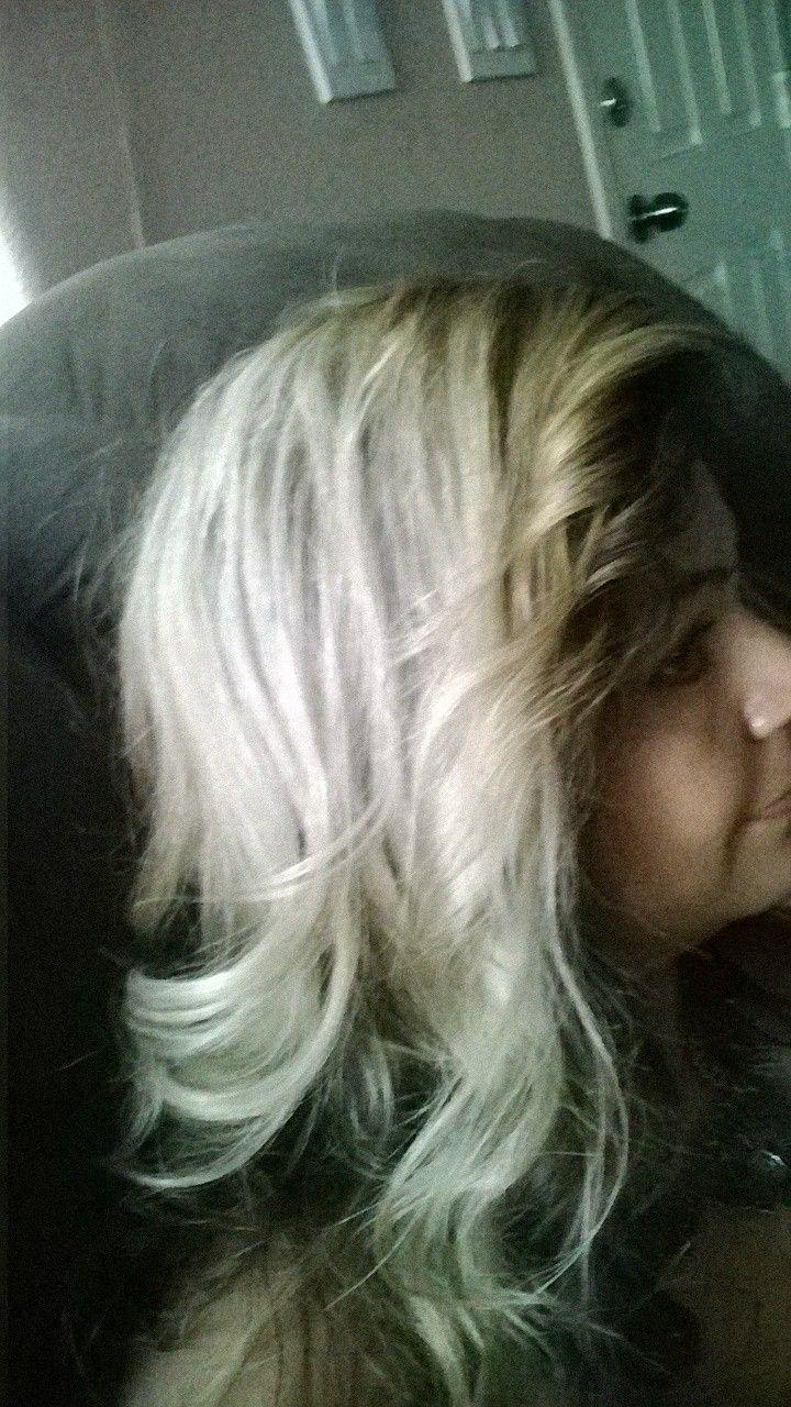 Cabello con tono gris tinte lavable
