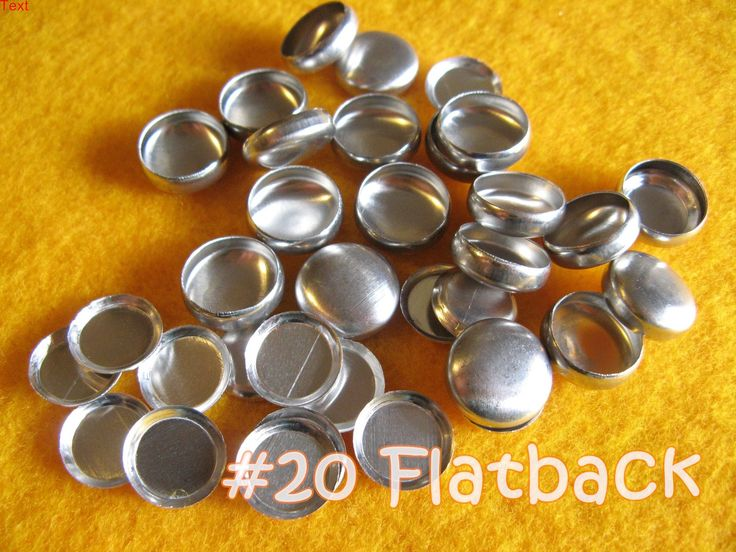 Sale - 200 Cover Buttons FLAT BACKS - 1/2 inch - Size 20  flat backs no loops covered buttons notion supplies diy refill - pinned by pin4etsy.com
