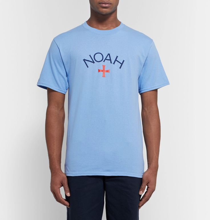 Mr. Porter x Noah NYC Printed Cotton-Jersey T-Shirt