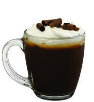 cafe amore - cognac, amaretto, black coffee, whipped cream, almonds.