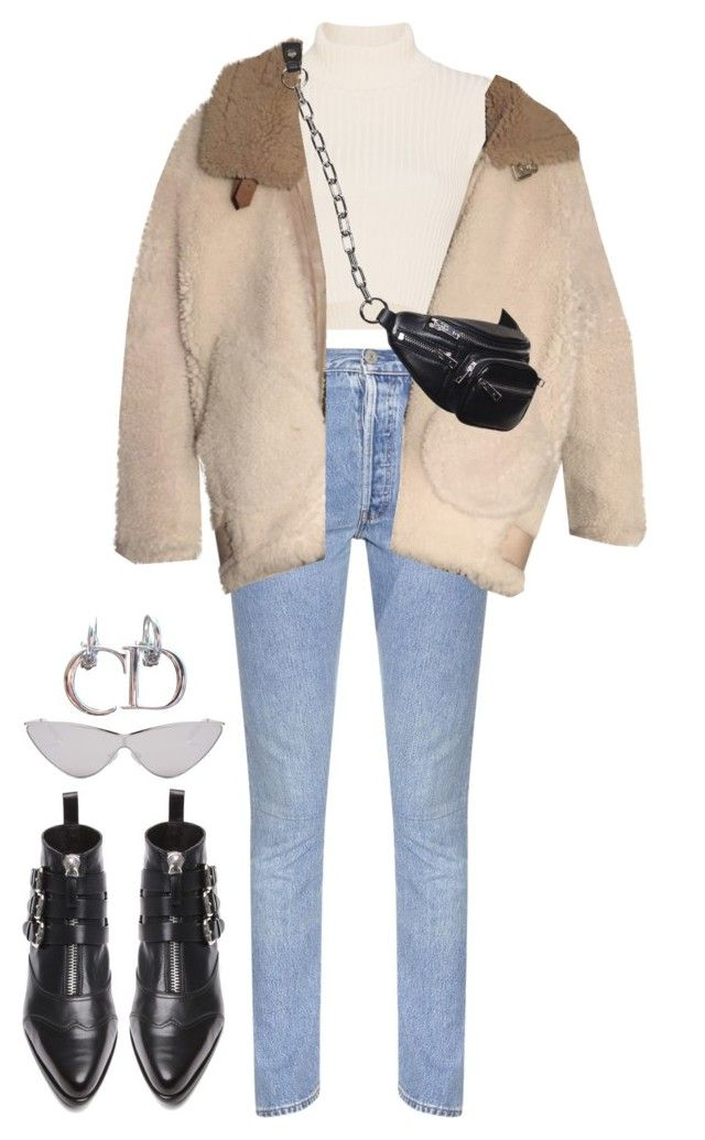"""""""Untitled #157"""" by naylarizkalla ❤ liked on Polyvore featuring Vetements, Staud, Acne Studios, Tabitha Simmons and Le Specs"""