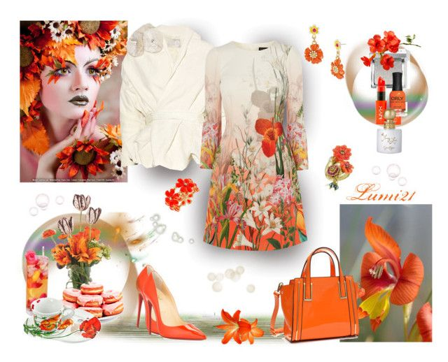 spring madness by lumi-21 on Polyvore featuring Christian Louboutin, Dasein, Les Néréides, Betsey Johnson, Haskell, Bobbi Brown Cosmetics, NYX, Jessica Simpson, ORLY and Spigarelli Ceramiche