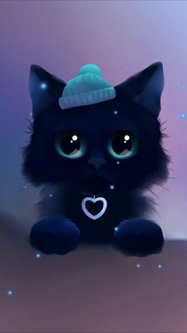 Pin By Andrea Denes On Katzen Fluffys Cute Cat Wallpaper Cat Wallpaper Animal Drawings