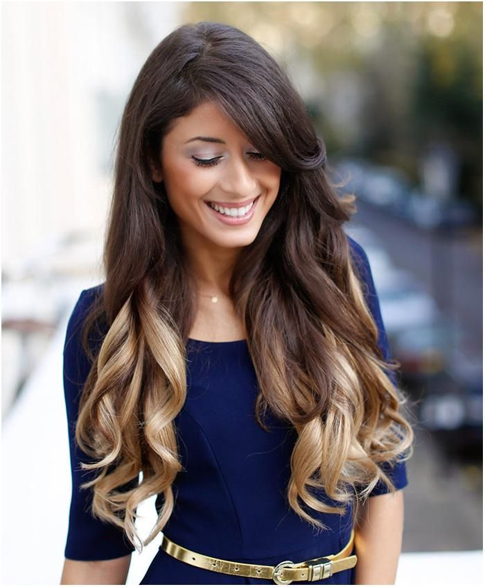 medium dark brown hair with blonde underneath blonde hair with
