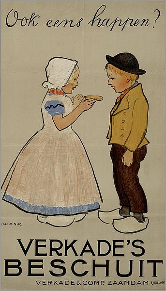 Author Jan Rinke (1863-1922) - Affiche Verkade & Com. Zaandam Holland