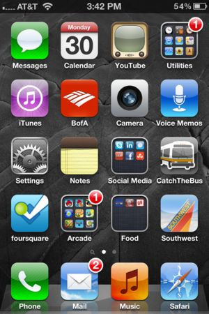 How To Take A Screen Shot With Your iPhone: .....Simply press the home button and the on/off switch at the same time. Your screen will flash and the resulting image will land in your camera roll.