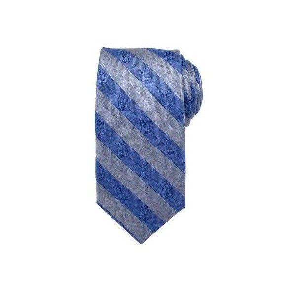 Men's Cufflinks Inc R2D2 Stripe Tie ($55) ❤ liked on Polyvore featuring men's fashion, men's accessories, men's neckwear, ties, none, men's silk ties, mens ties and mens striped ties
