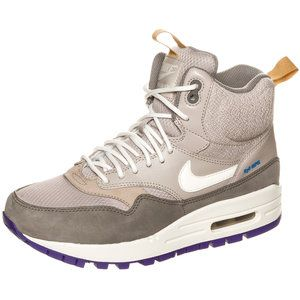 #Nike #AirMax 1 Mid #Sneakerboot for women Color: lilac / grey