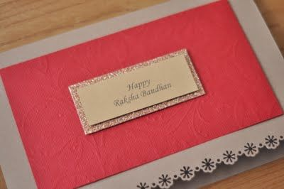 The Party Wall: Handmade Raksha Bandhan cards and rakhis