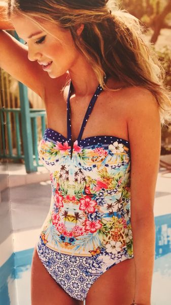 Amazing Mix Print Swimsuit Beach Style