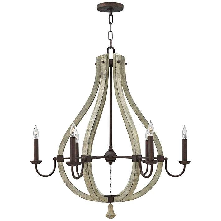 """Fredrick Ramond Middlefield 30"""" Wide Iron Rust Chandelier - #3H770   Lamps Plus"""