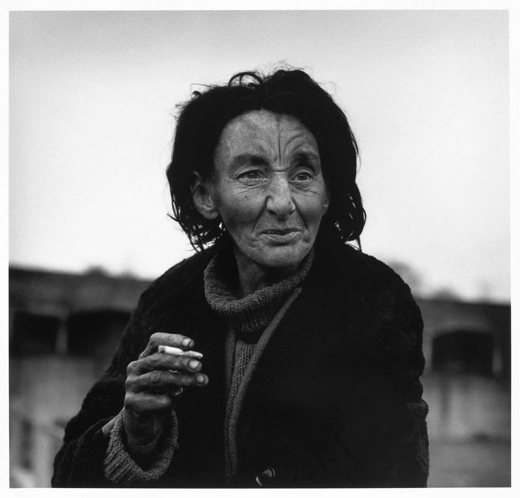 Jean, a homeless woman, Aldgate East  London 1984. Don McCullin