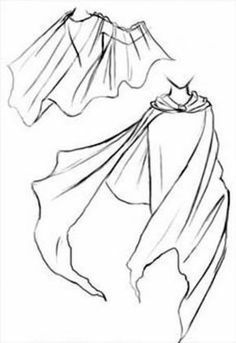 Cartoon Drawing Tips cape reference - Drawing Base, Manga Drawing, Figure Drawing, Figure Painting, Drawing Techniques, Drawing Tips, Drawing Ideas, Drawing Body Poses, Poses References
