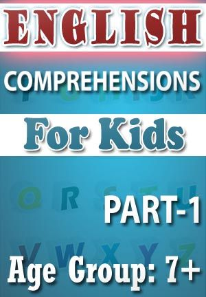 ENGLISH COMPREHENSIONS FOR KIDS-PART-1 Read the comprehension carefully then answers the questions Each comprehension is followed by multiple choice questions. 1. ABC for fruits n veggies 2. Amy the Ant 3. At The Beach 4. Bake cookies 5. Bob the Bully 6. ABC's for animals 7. Animals with no tails 8. At The Park 9. Best Friends 10. Butterfly   PRICE :- RS.61.00