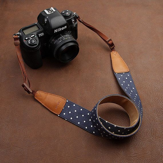 CUTE Camera Strap  ! Leather DSLR Camera Strap by camerasbagstraps, $32.99