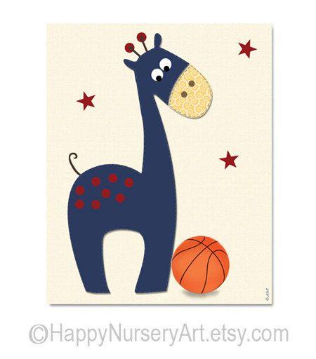 Sticker de basket-ball pépinière décor de par HappyNurseryArt