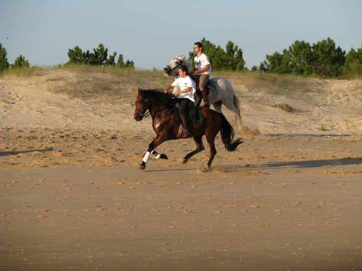Equitation sur la plage de Monte Gordo