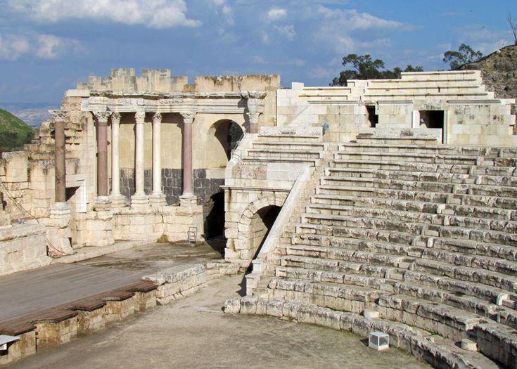 Roman theater at Beit Shean, Israel - Travel Photos by Galen R Frysinger