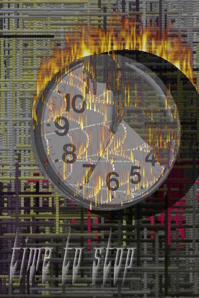 De hele wereld heeft haast  De tijd is vurig en stopt voor niemand. maar als niemand stopt is de tijd voorbij  Made by Berto Bark