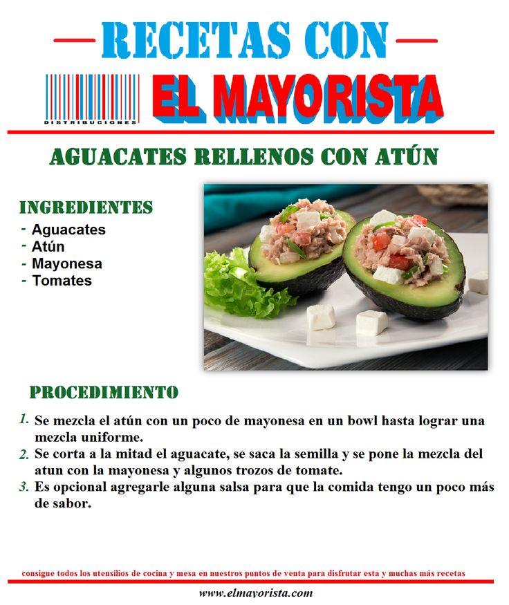 #recetas con #elmayorista aguacates rellenos con atún. Consigue todos los utensilios de mesa y cocina en nuestros puntos de venta para disfrutar esta y muchas recetas más.  http://www.elmayorista.com/