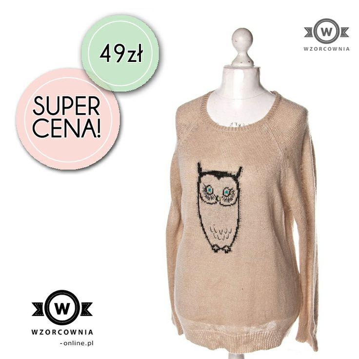 CENA DNIA: Sweter z sową. Absolutny must have za 49,00 zł.  TUTAJ --> http://bit.ly/1eJMxB8