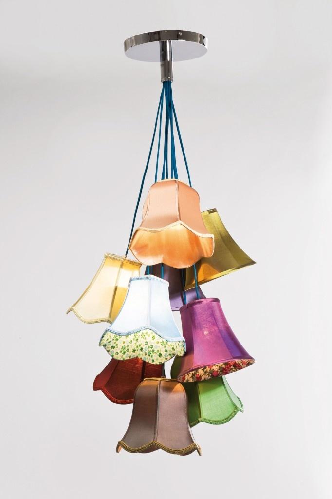 Zo mooi deze lamp met vele kapjes