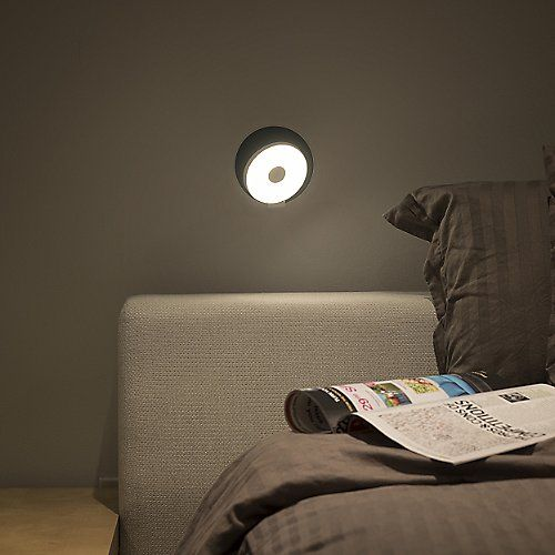 The Koncept Gravy LED Wall Sconce re-imagines the definition and function of a wall light. The simple circular silhouette features a patented design, the shade can be rotated 360 degrees to accommodate task lighting, ambient lighting and everything in between. Simply turn on this user friendly piece by touching the shade, and just as easily dim by holding your finger in place.