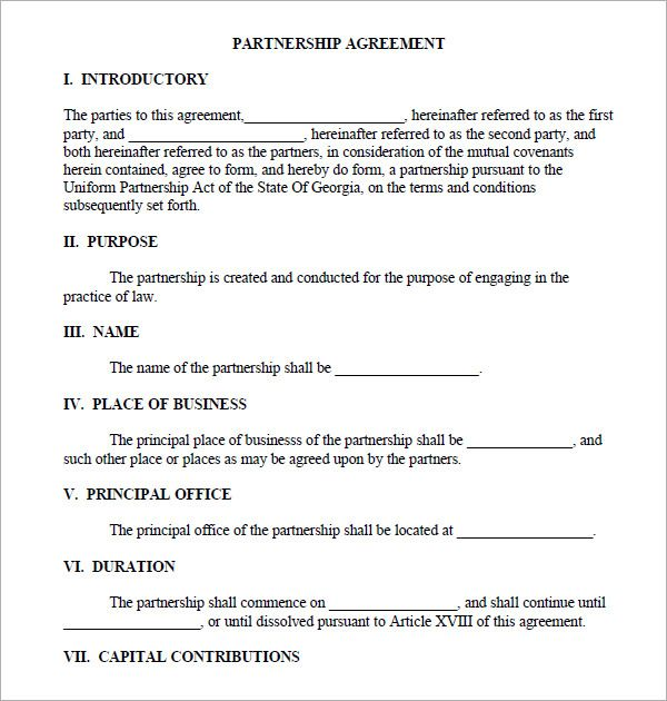 Partnership Agreement Template Check More At Https