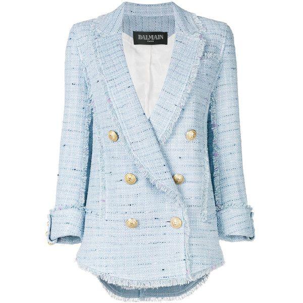 Balmain double breasted tweed blazer (€1.535) via Polyvore