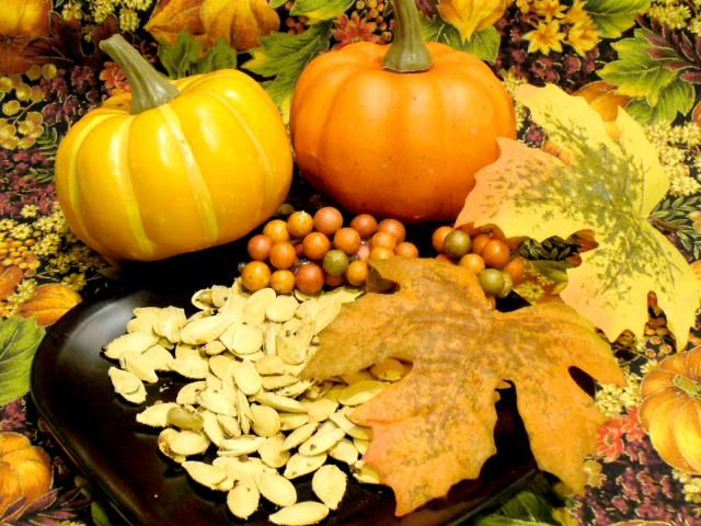 Pumpkin seeds are easily toasted in a skillet on the stove-top in a jiffy. Leave them plain or spice them up to suit your personal tastes.