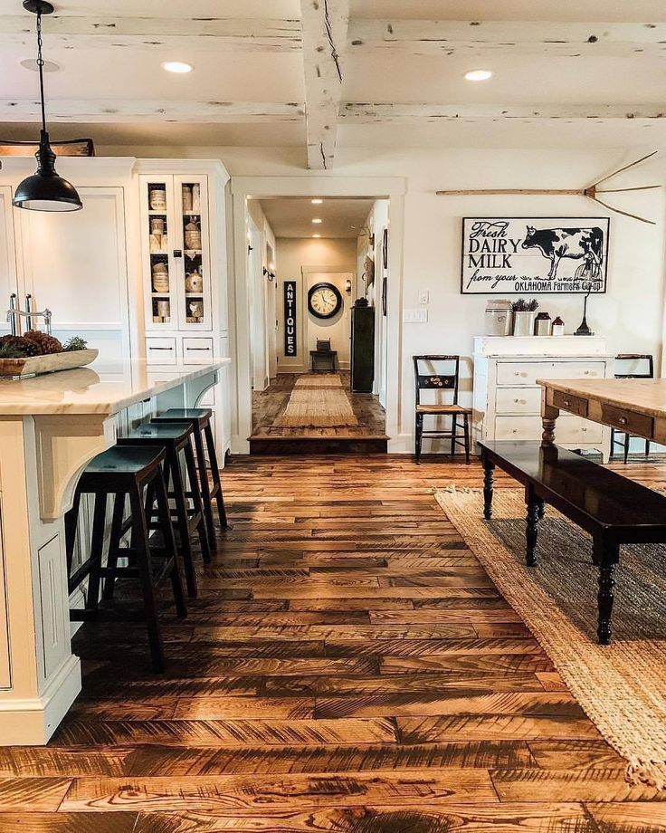 Burned plywood floors in 2020 | Farm style kitchen, Rustic ...