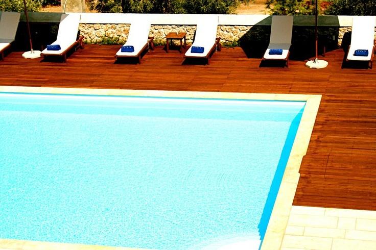 Xenon Estate villas in Spetses - swimming pool.  www.xenonestate.gr