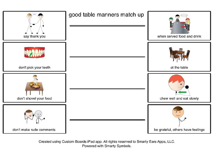 Good Table Manners 2 Classroom Pinterest The Ojays
