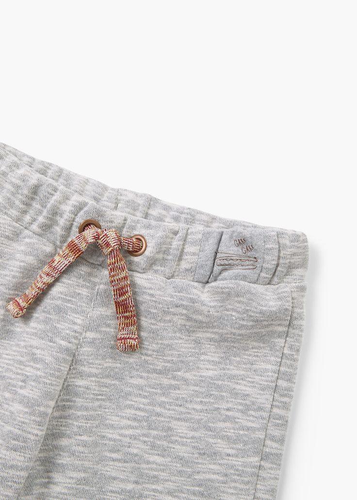 Stretch katoenen broek | MANGO KIDS