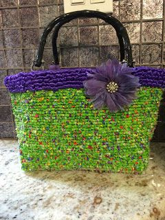 This is my locker hooked purse I made for my niece for Chistmas this year.